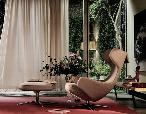 Vitra Eames Chair Grand Repos Lounge Chair - Hivemodern.com