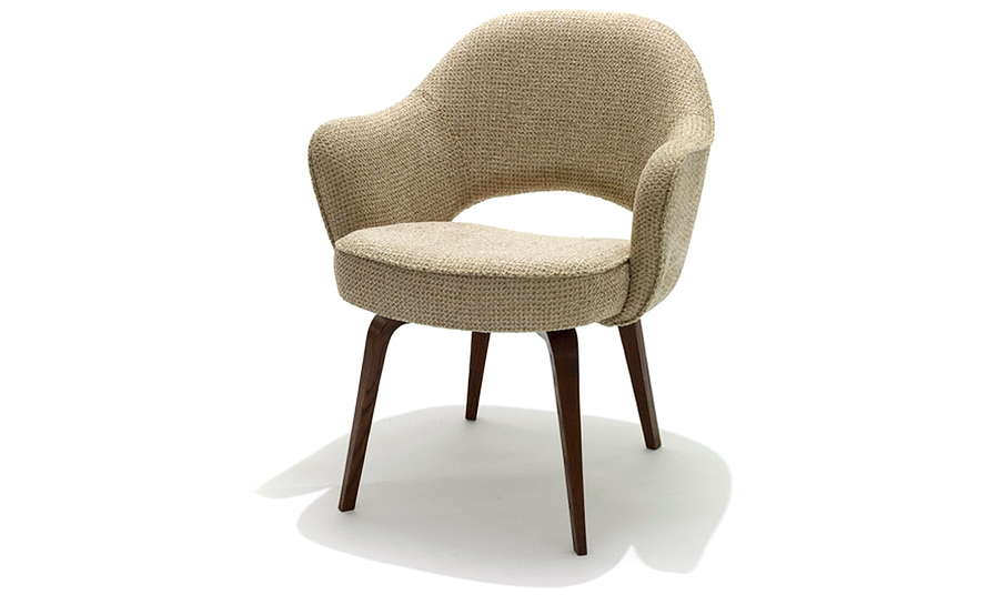 Designer Sofas Usa Saarinen Executive Arm Chair With Wood Legs - Hivemodern.com