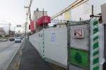 すでに建物はシートで覆われている(9月2日)
