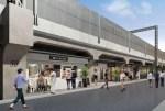 「中目黒駅高架下開発計画」の完成予想イメージ(東急電鉄ニュースリリースより)