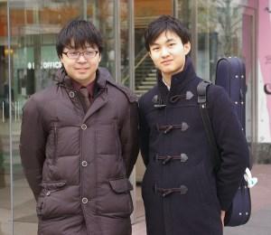 この日、一緒にインタビューに臨んでくれた日吉の丘フィルハーモニー主宰の村松琢麻(たくま)さん(写真左)と
