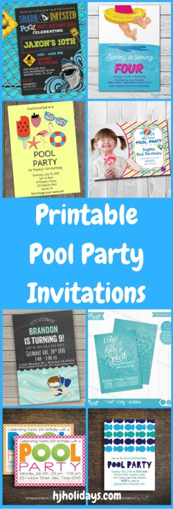 Small Of Pool Party Invitations