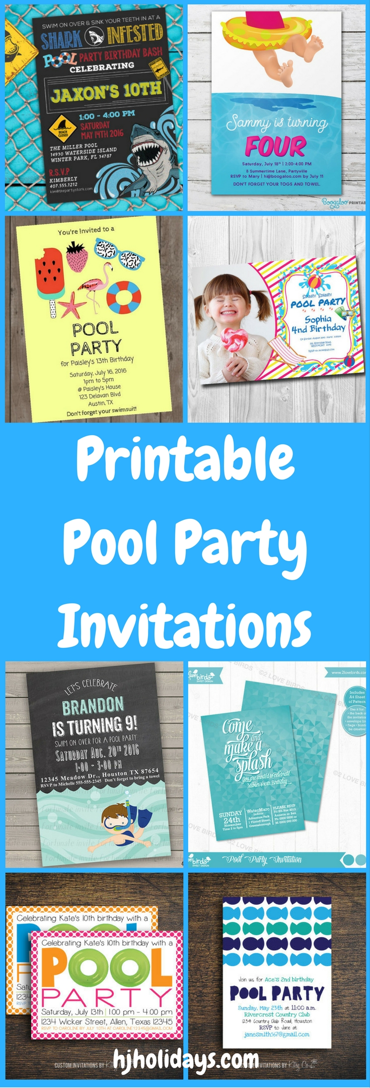 Large Of Pool Party Invitations