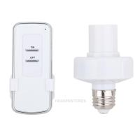 E27 Screw Base Wireless Remote Control Light Lamp Bulb ...