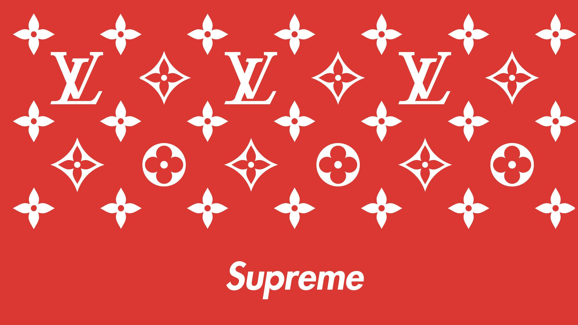 Supreme X Louis Vuitton Wallpaper Iphone