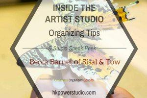 Inside the Artist Studio::Becca Barnet of Sisal & Tow Part II