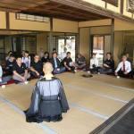 師範們在奈良「慈光院」欣賞日本傳統文化。