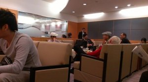 Really small and crowded JAL lounge. Terrible...avoid if possible.