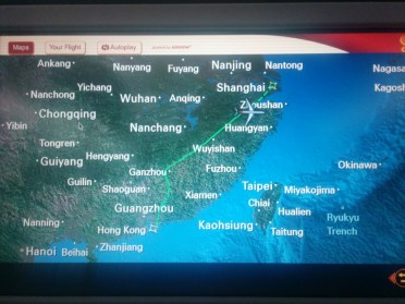 hkg to sha route