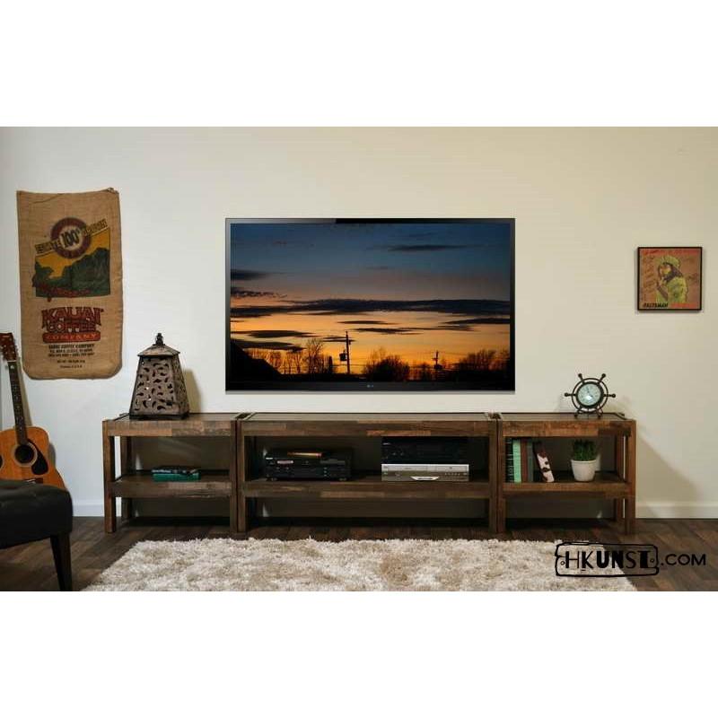 tv lowboard aus altholz 3 teilig