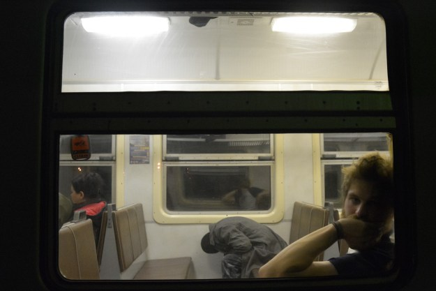 Some are even more tired than us - train ride to Krasnodar