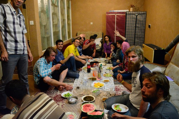 A little dinner at Sadegh's place.