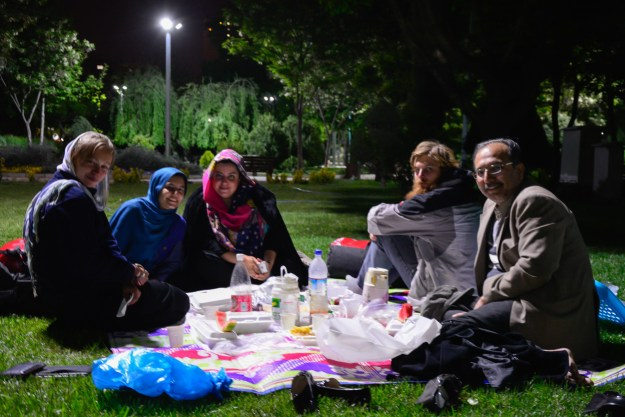A night-picnic together with Simin, her husband and daughter.