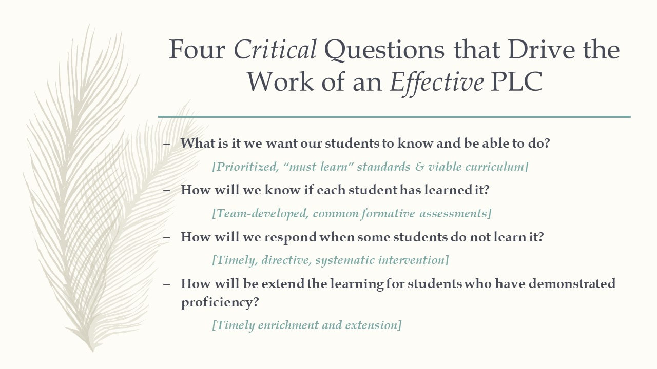 Drive Work Questions That Drive The Work Of An Effective Plc Hms