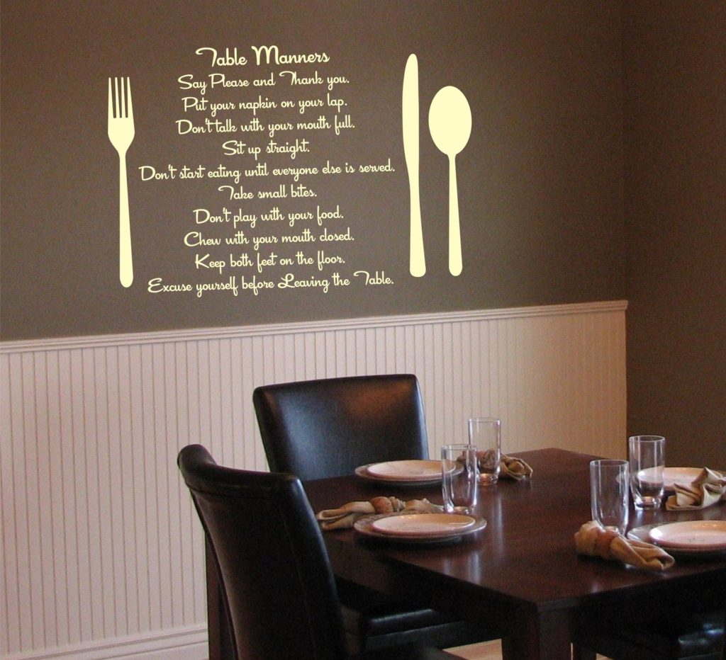 Cool Wall Decal 20 Fabulous Dining Room Wall Decorating Ideas Home And