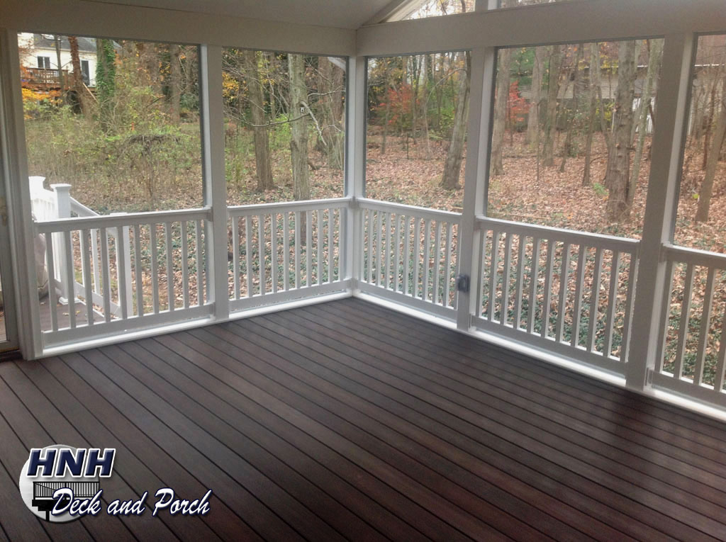 Front Porch Railing Deck Flooring Gallery - Hnh Deck And Porch, Llc 443-324-5217