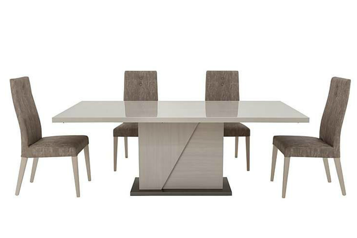 Table Metal Blanc Mont Blanc 5 Piece Dining Set
