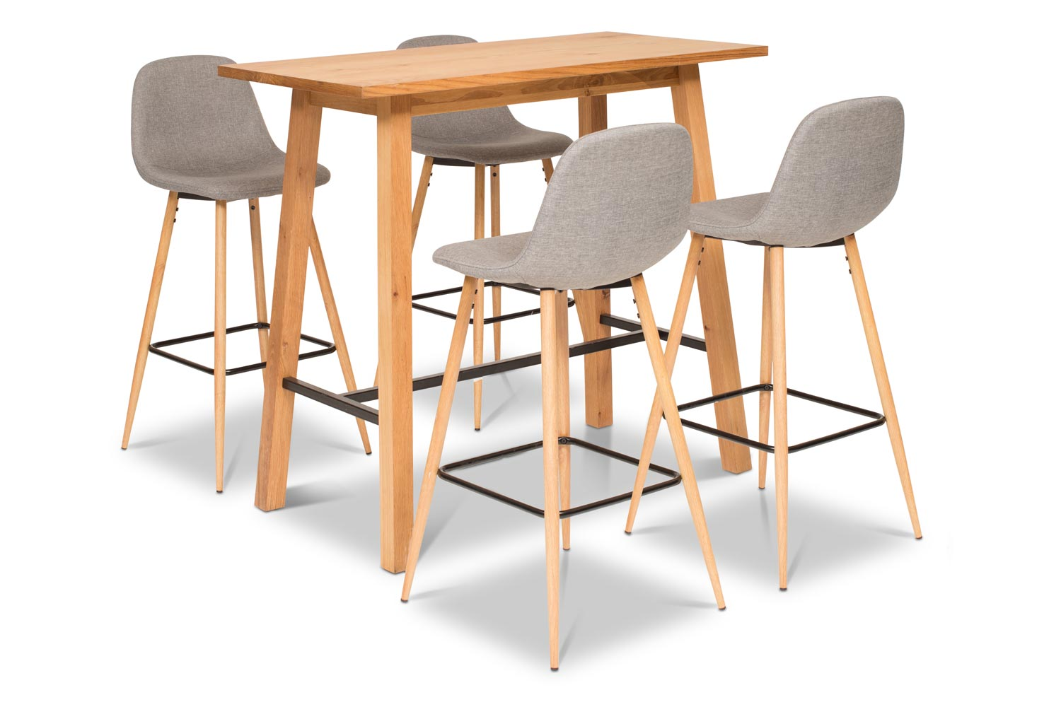Table And Bar Stools Stockholm Bar Table With 4 Wilma Bar Stools