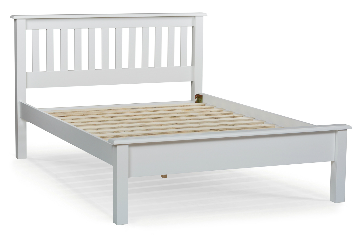 White Wooden Small Double Bed Shaker Small Double Bed Frame 4ft White Ireland