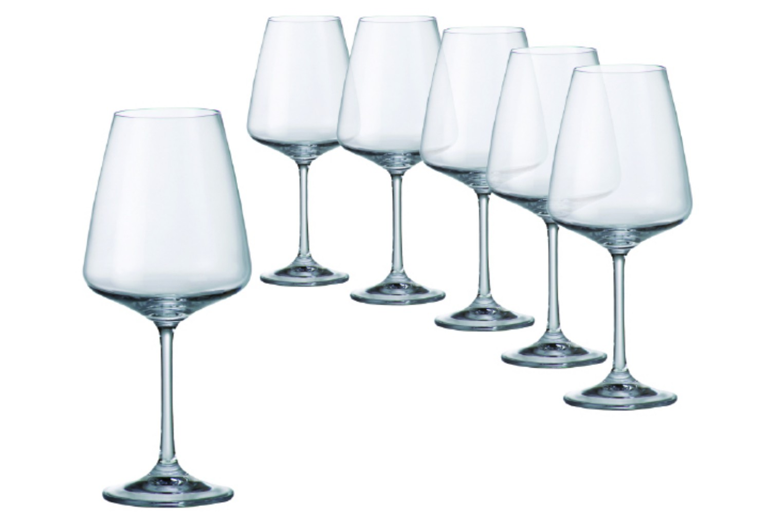 High End Crystal Wine Glasses Tipperary Crystal Sapphire Wine Glasses 450ml Set Of 6