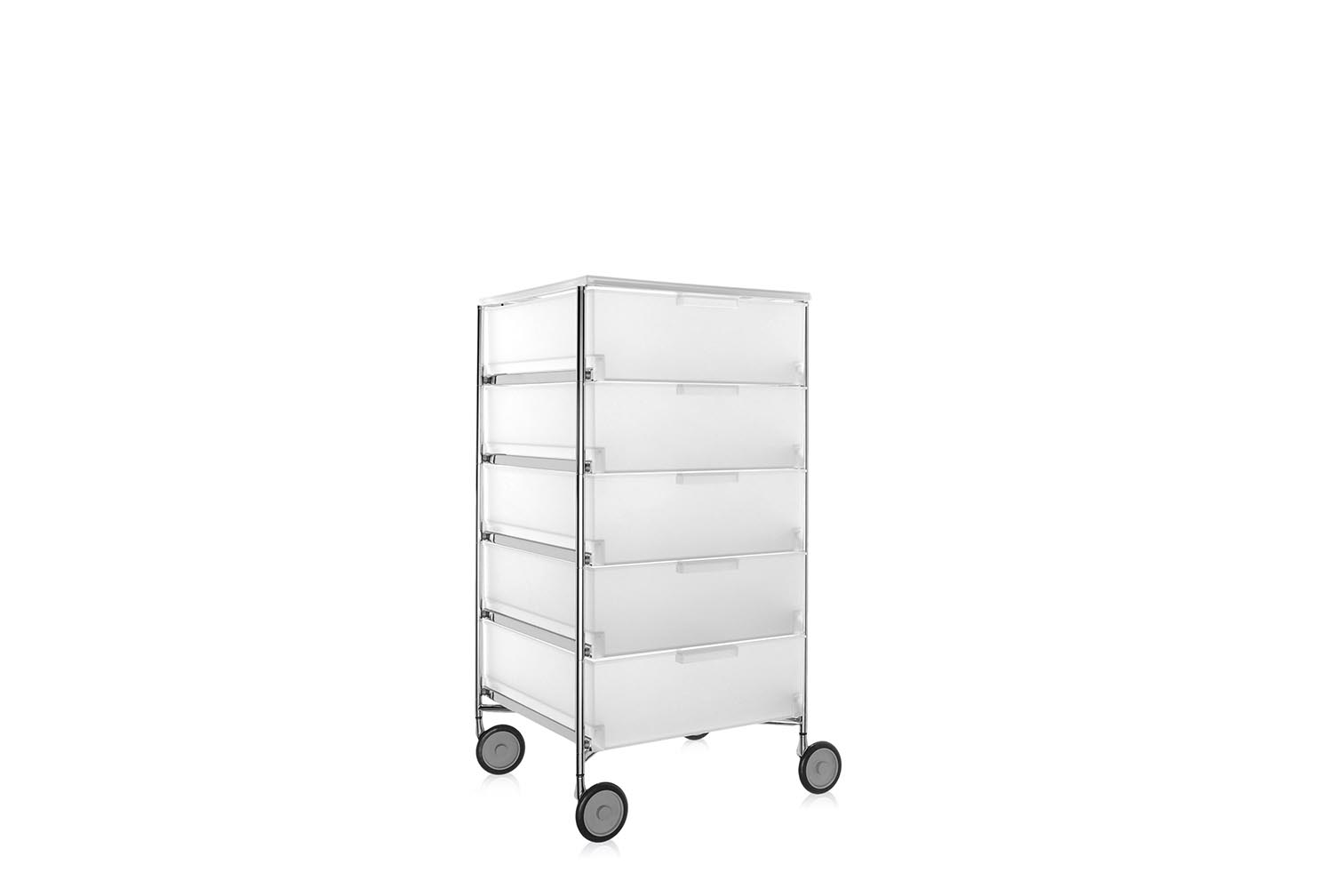 Kartell Container Mobil With 5 Drawers On Castors