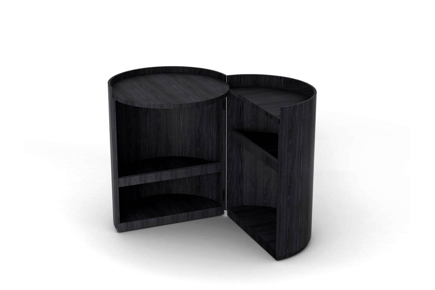 Divano Lunar B&amp Moon Bedside Table By Mist O For Living Divani Space Furniture