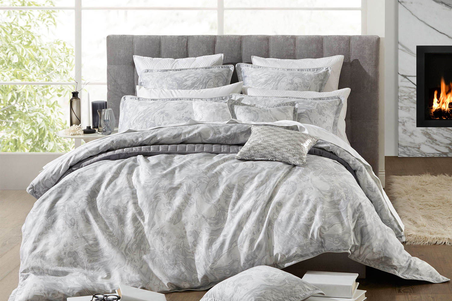 Silver Duvet Cover Alesso Silver Duvet Cover Set By Private Collection