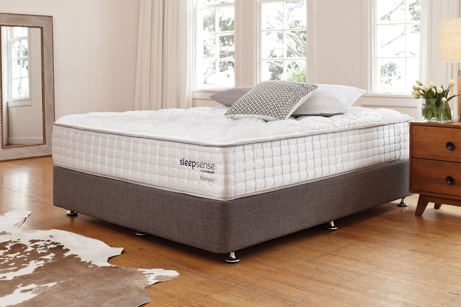 Long Single Bed Renew King Single Bed By Sleepsense