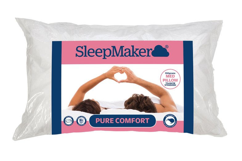 Pure Comfort Medium Pillow By Sleepmaker Harvey Norman
