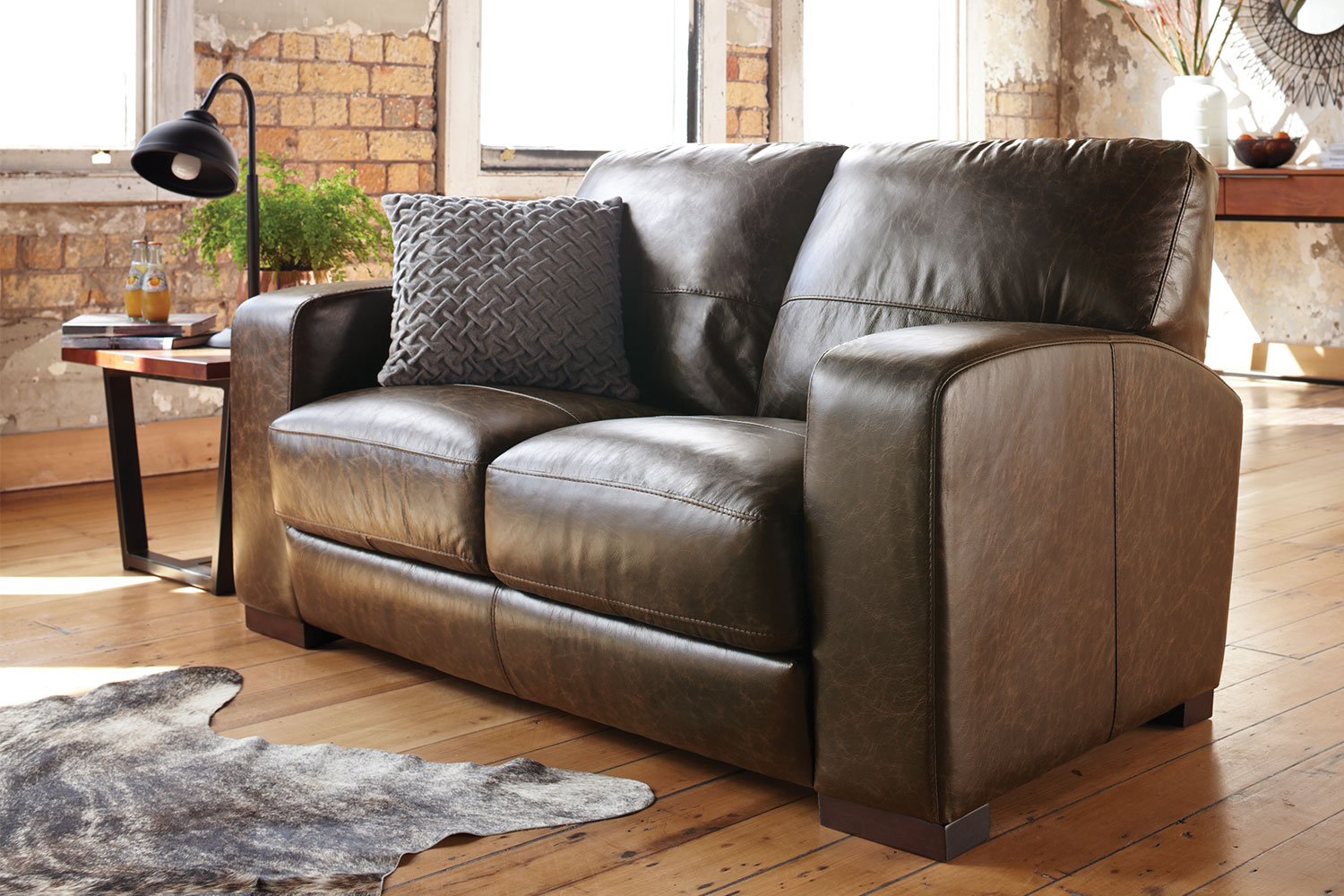Leather Sofa New Zealand Caprizi 2 Seater Leather Sofa By Debonaire Furniture