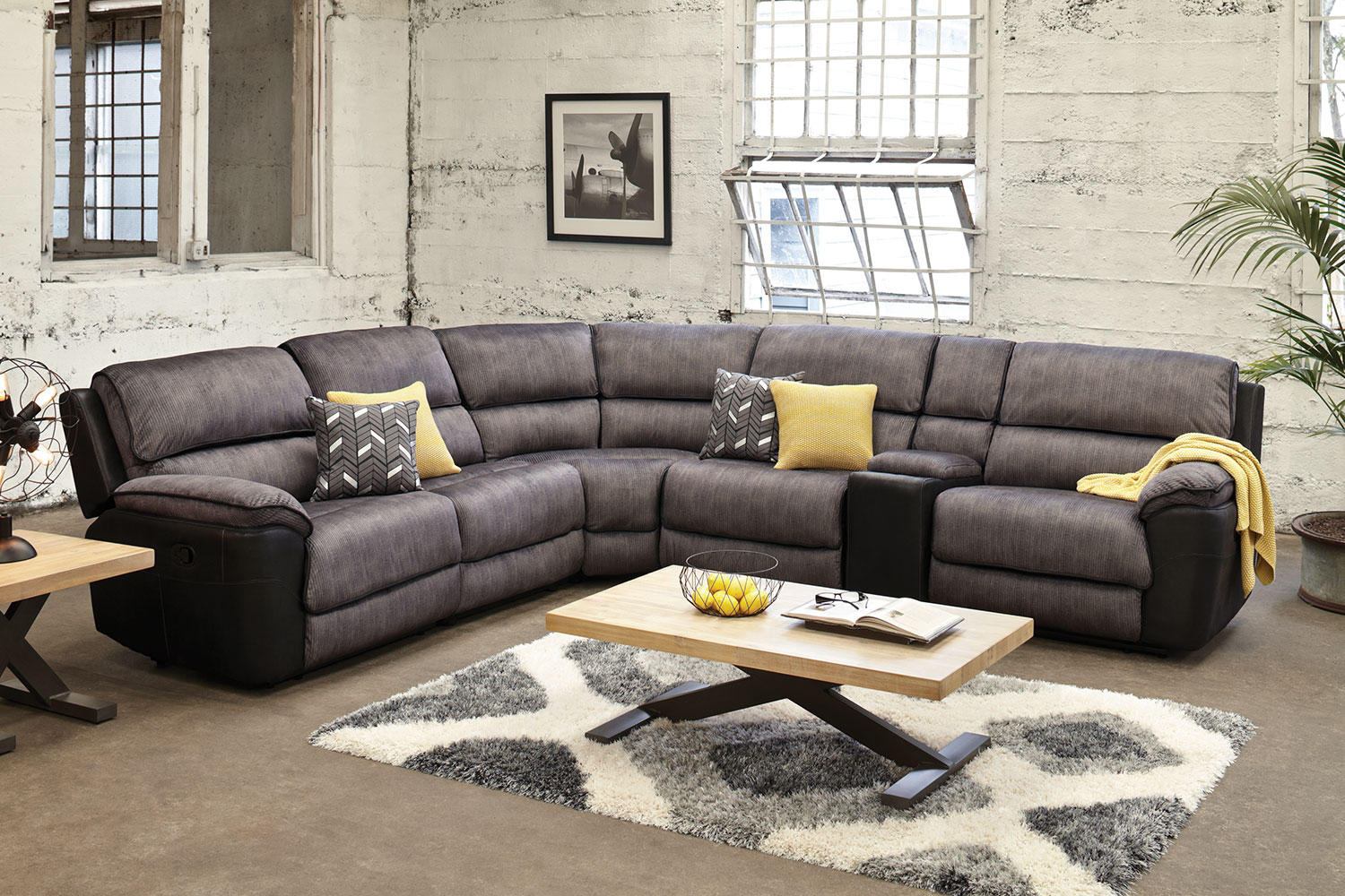 Lounge Suites Lachlan 5 Seater Fabric Corner Lounge Suite By Vivin