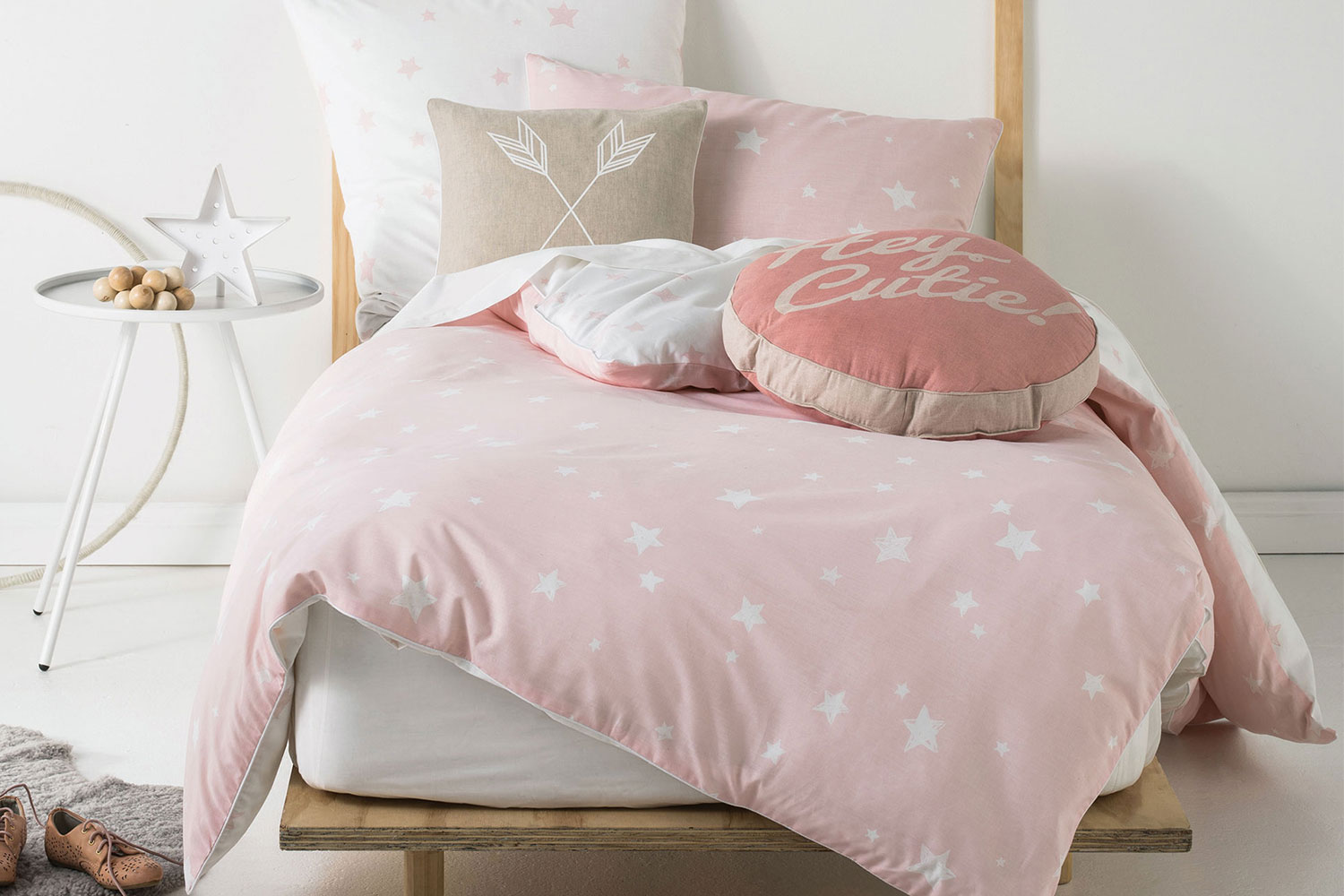 Pink Duvet Cover Stargazer Pink Duvet Cover Set By Squiggles