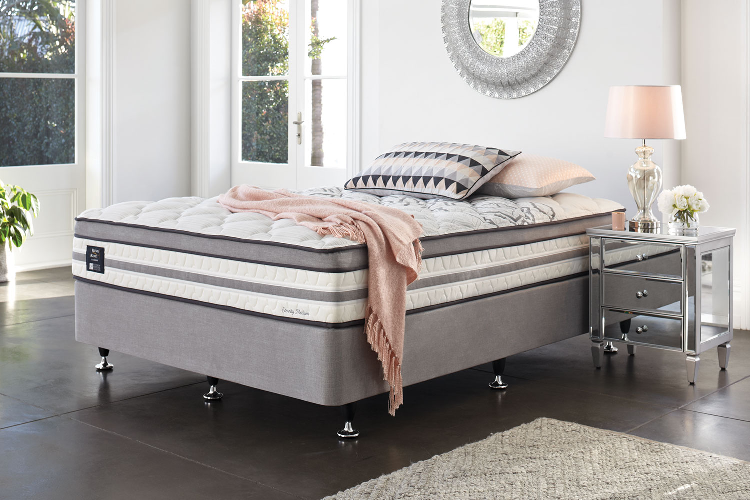 Long Single Bed Eternity Medium Long Single Bed By King Koil