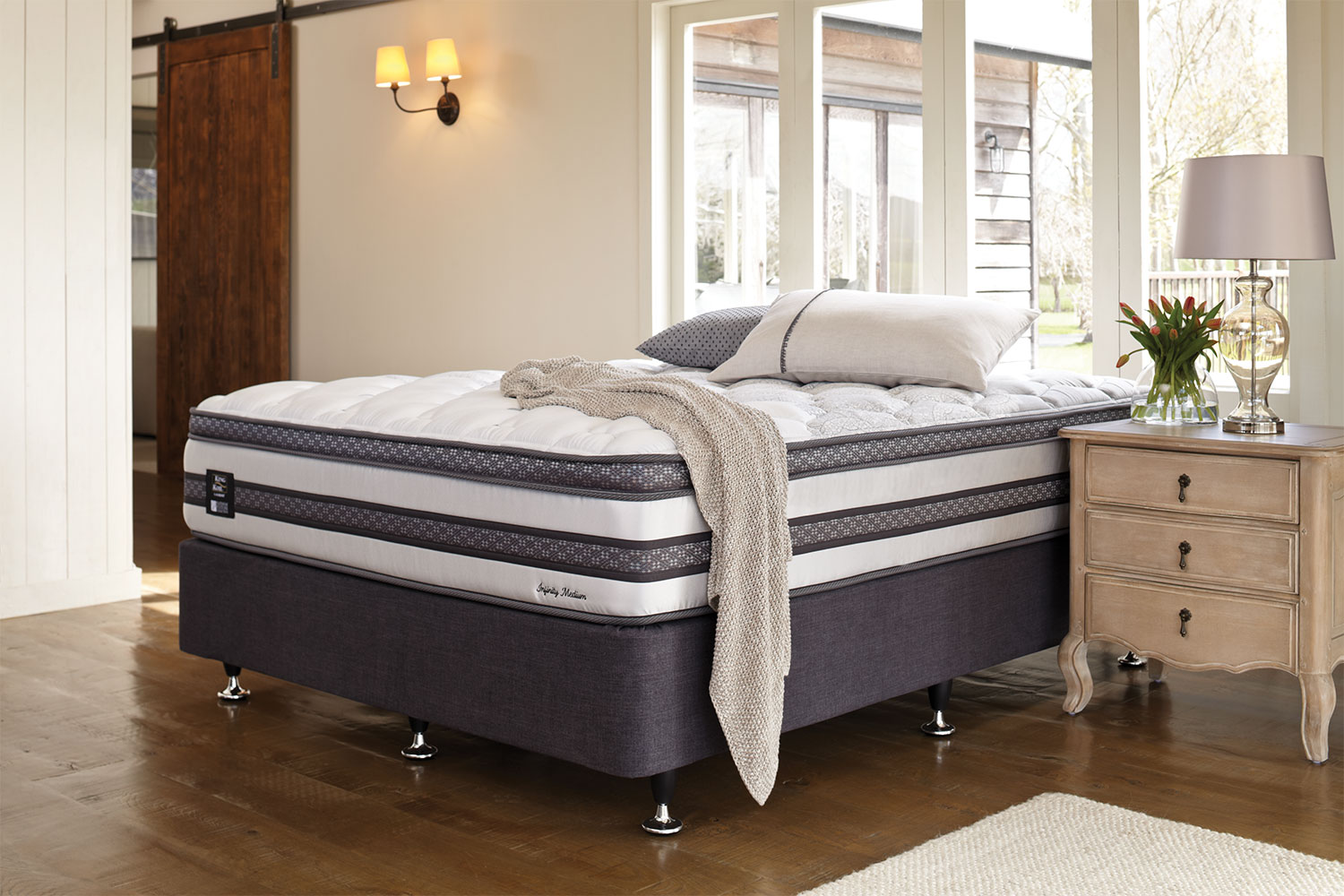 Long Single Bed Infinity Medium Long Single Bed By King Koil
