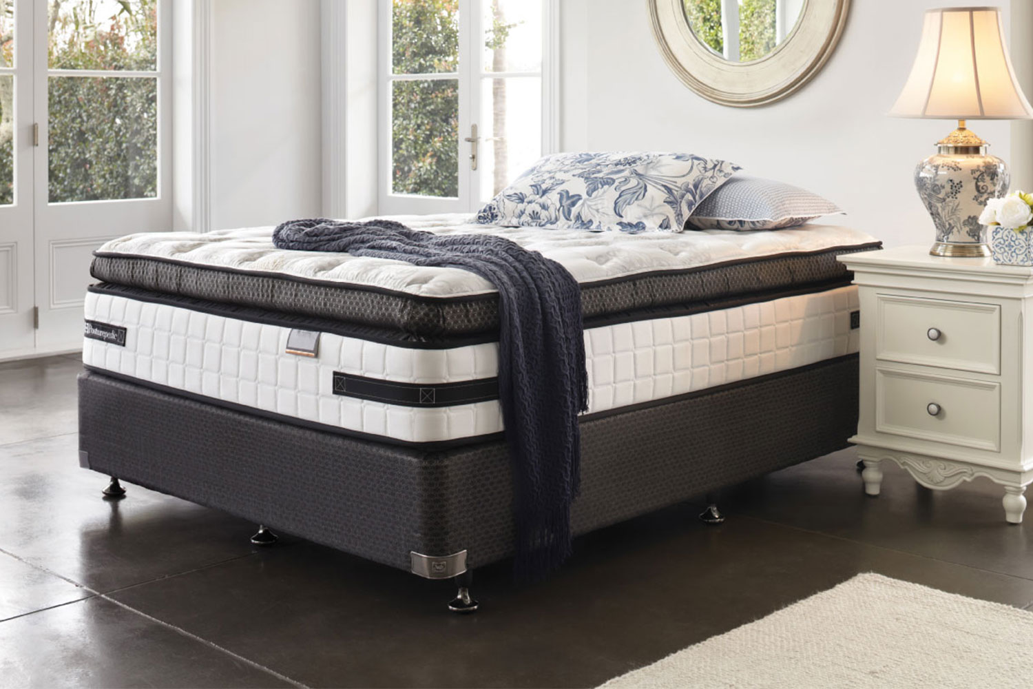 King Bed Ensemble Base Only Kensington Ultra Plush Super King Bed By Sealy Posturepedic