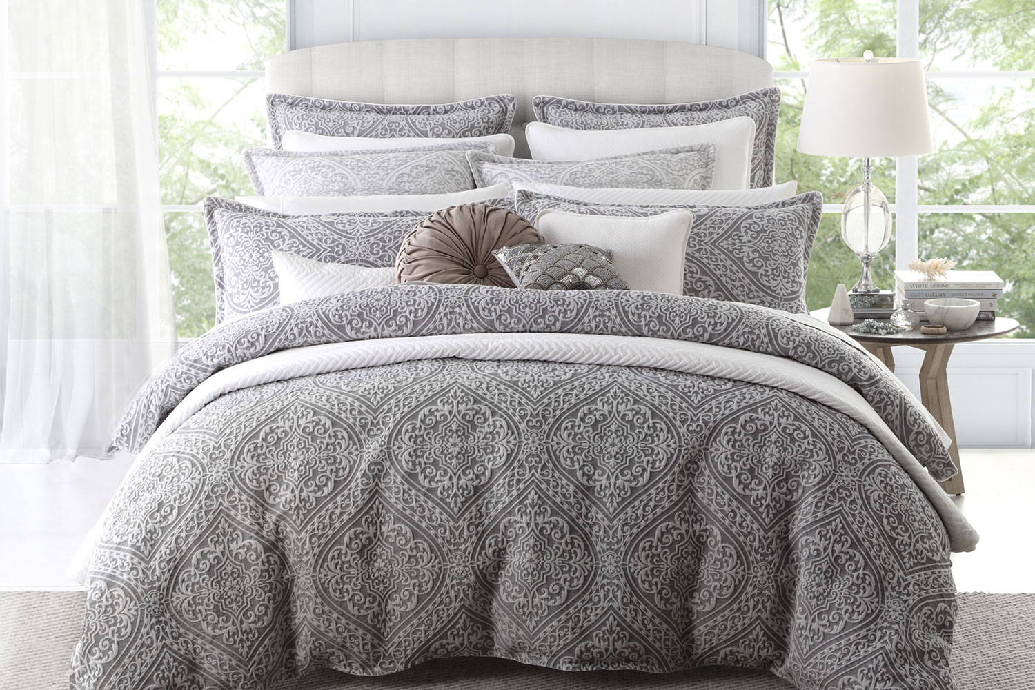 Silver Duvet Cover Manon Silver Duvet Cover Set By Private Collection