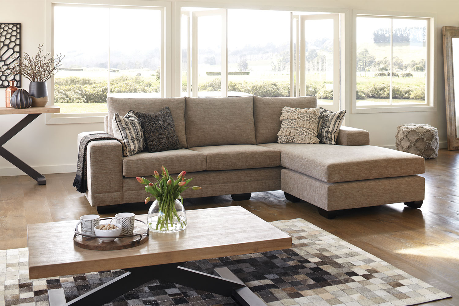 Harvey Norman Side Tables Martini 4 Seater Fabric Sofa Chaise By Furniture Haven