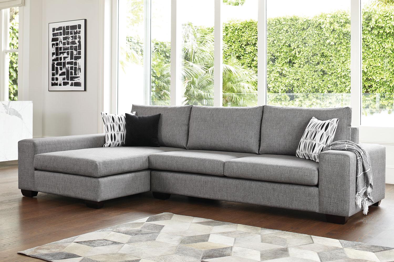 Grey Sofa Nz Kingdom 4 Seater Fabric Sofa With Chaise By Furniture Haven