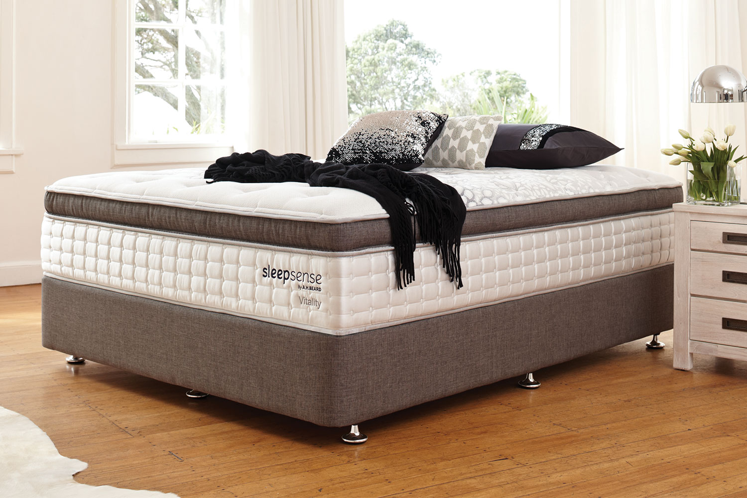 Long Single Bed Vitality Long Single Bed By Sleepsense