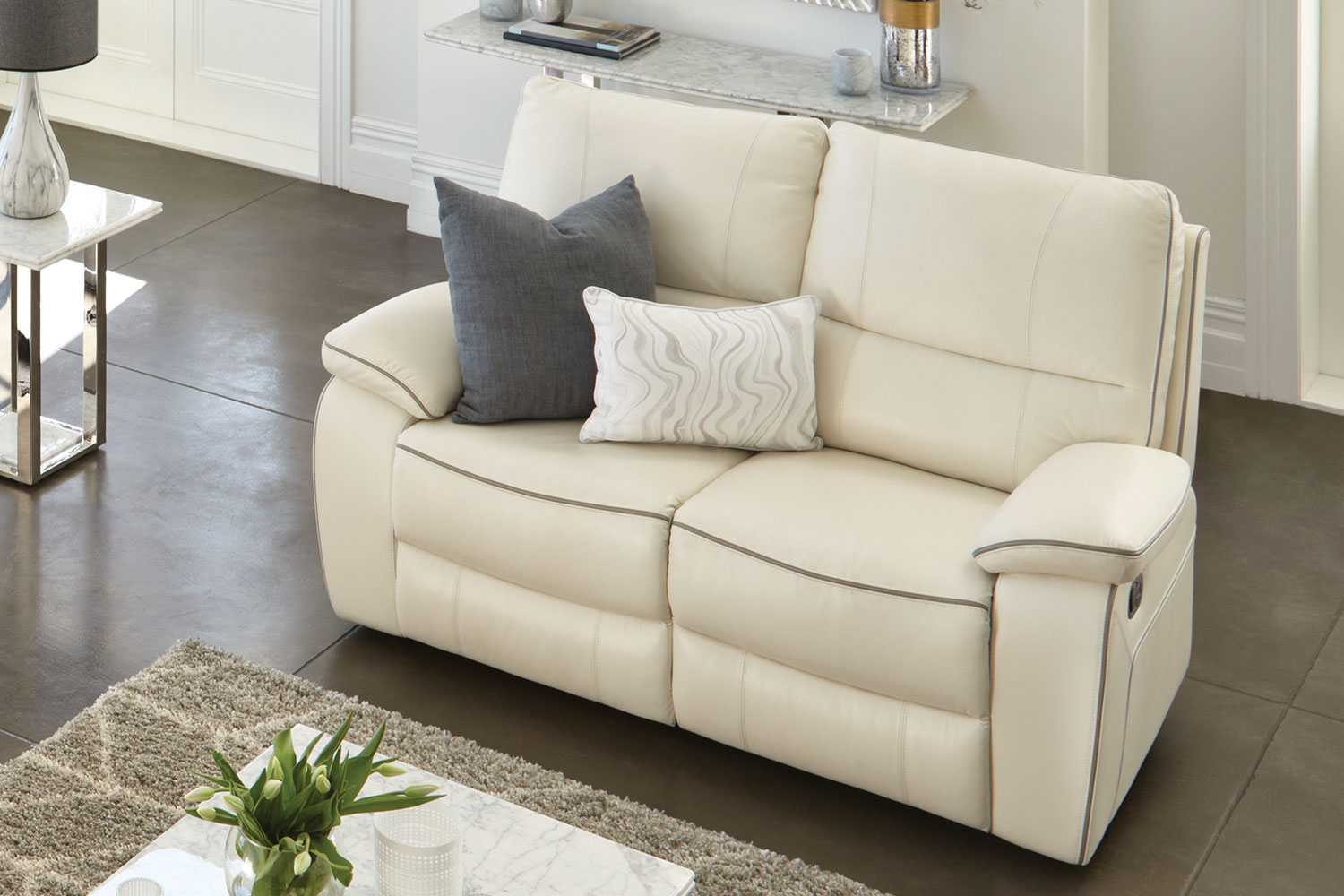 Corsetta 2 Seater Recliner Sofa Strata 2 Seater Leather Recliner Sofa By Synargy | Harvey