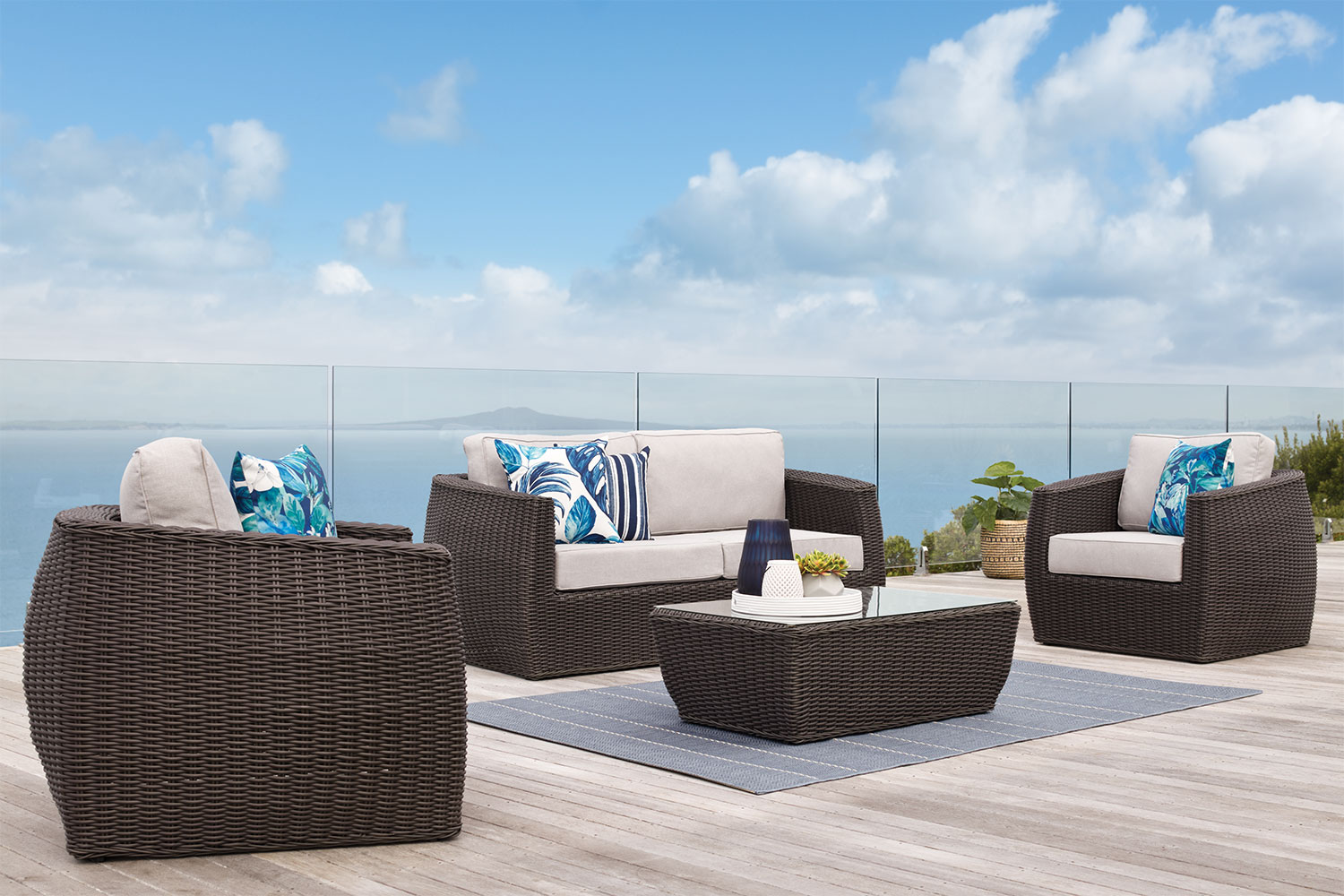 Ellie 4 Piece Outdoor Lounge Setting Harvey Norman New Zealand - Outdoor Wicker Furniture Clearance Nz