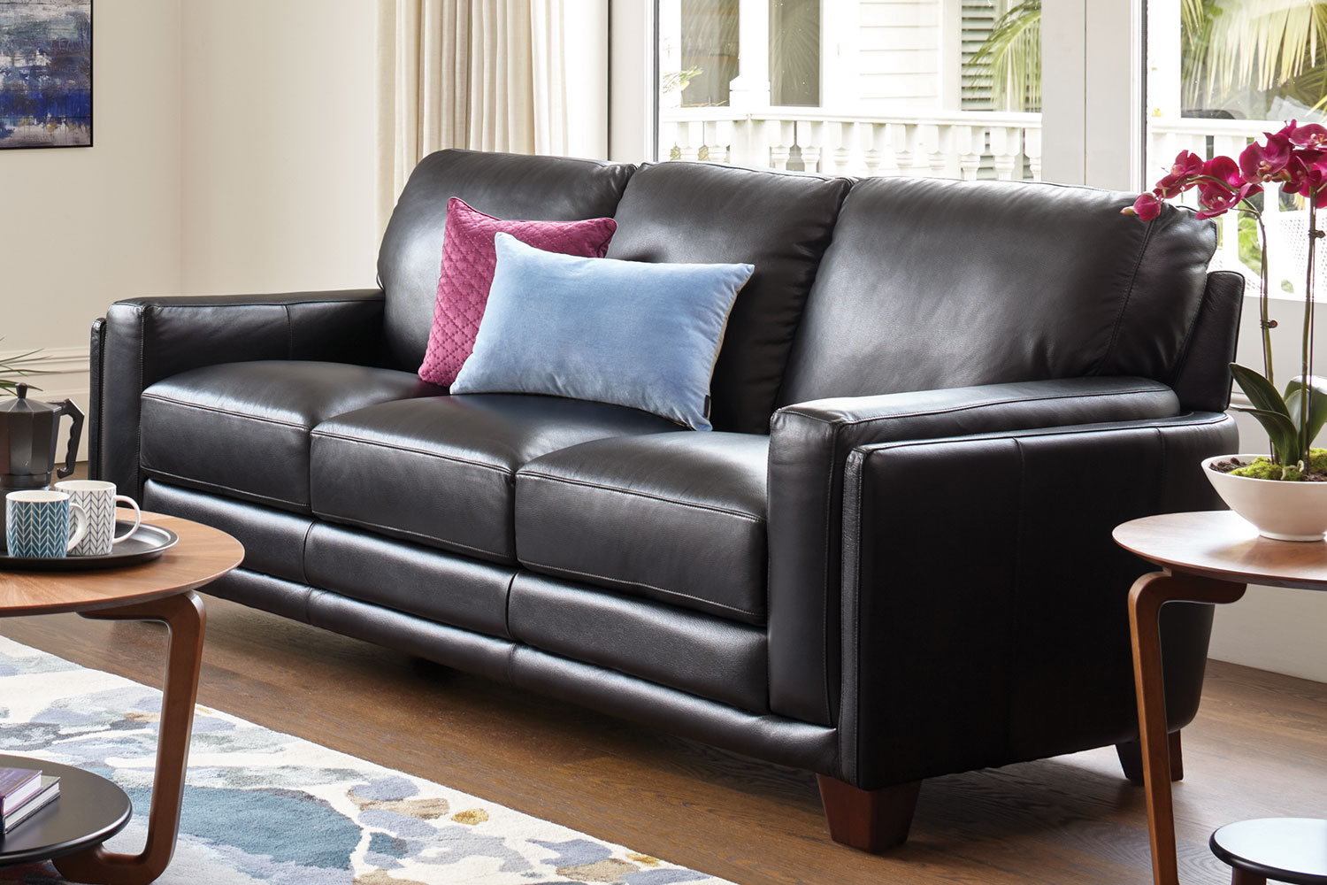 Leather Sofa La Z Boy Lee 3 Seater Leather Sofa By La Z Boy