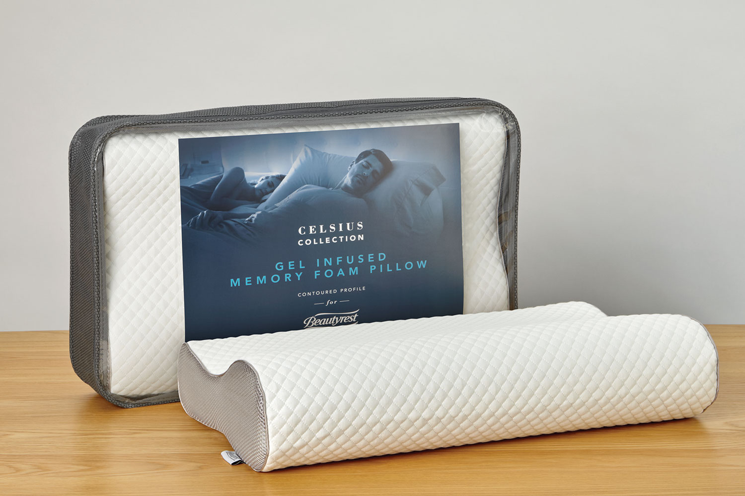 Gel Infused Memory Foam Pillow Celsius Contour Gel Infused Memory Foam Pillow By Beautyrest