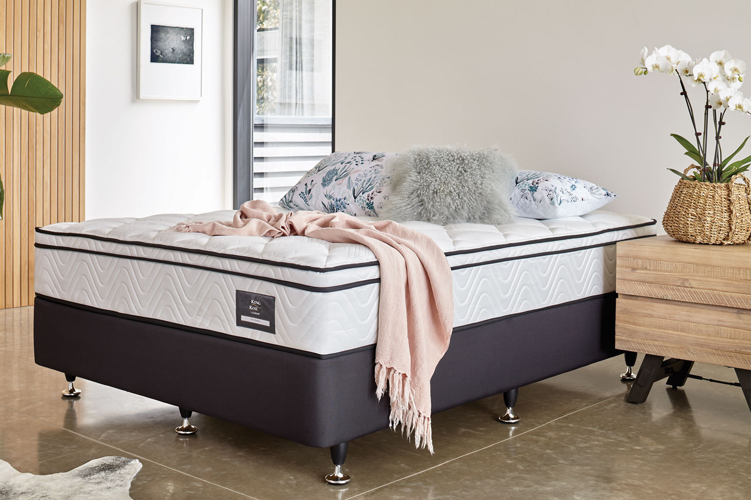 Long Single Bed Viva Medium Long Single Bed By King Koil