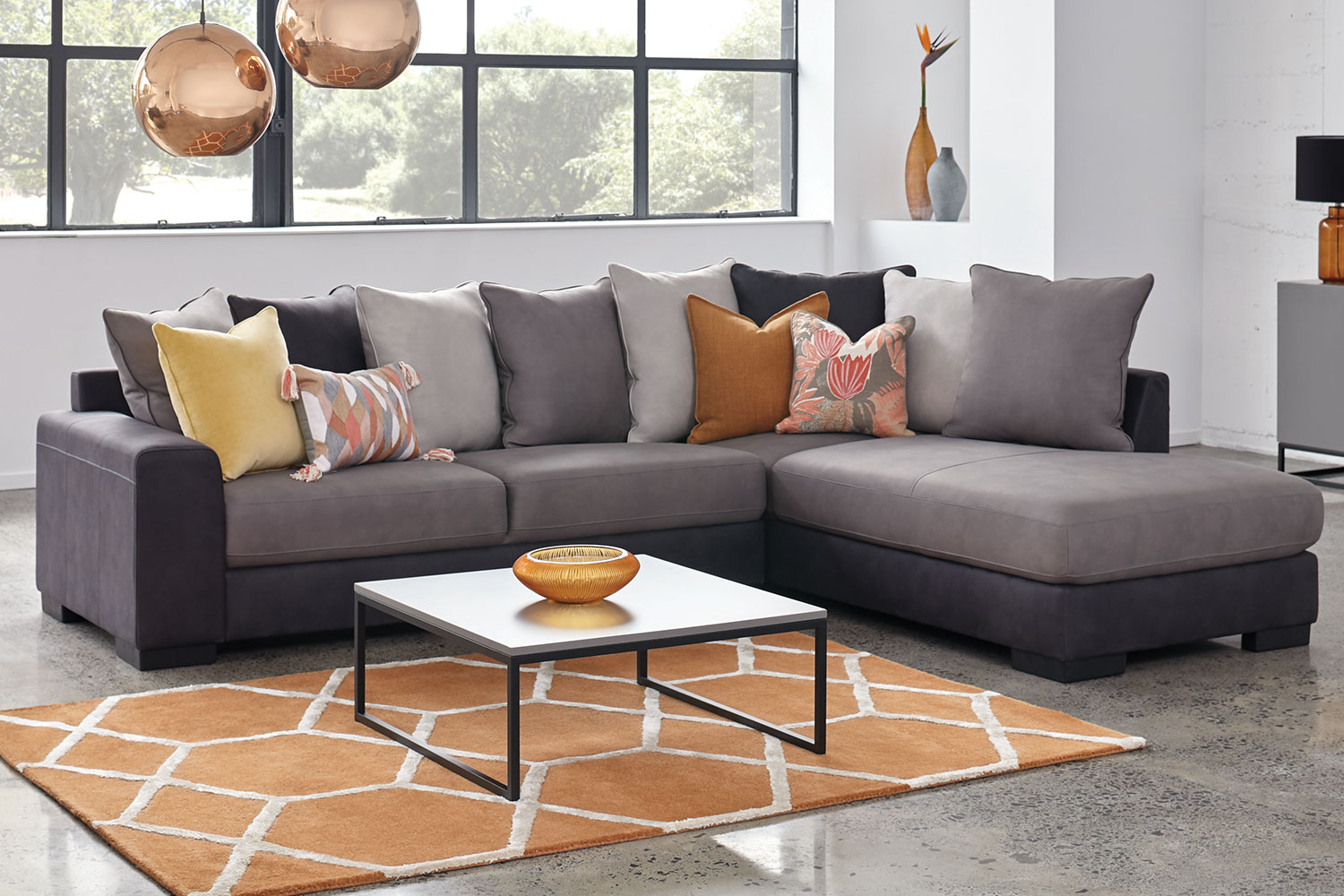 Harvey Norman Side Tables Atlanta 3 Seater Fabric Sofa With Chaise