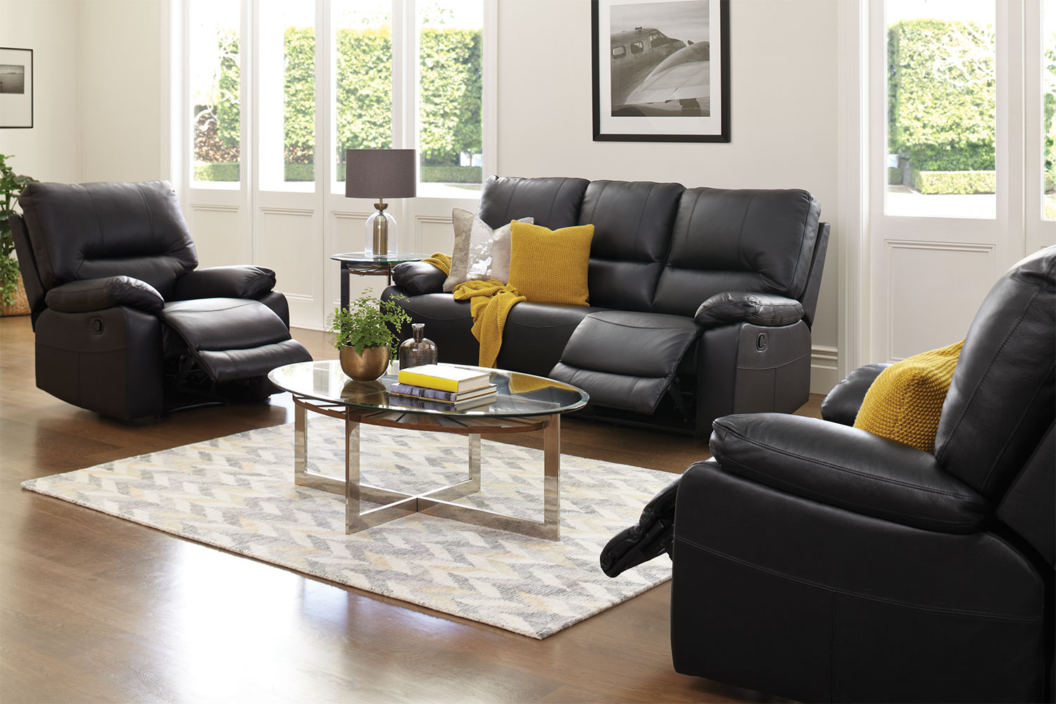 Harvey Norman Side Tables Waterford 3 Piece Leather Lounge Suite