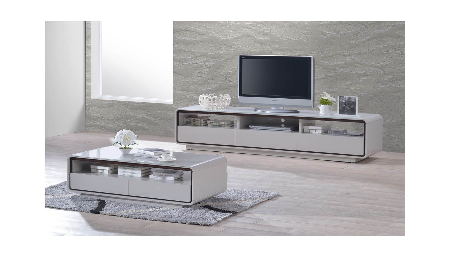 Tv Units Home Furniture Living Room Entertainment Units Basil High Gloss Tv Cabinet White