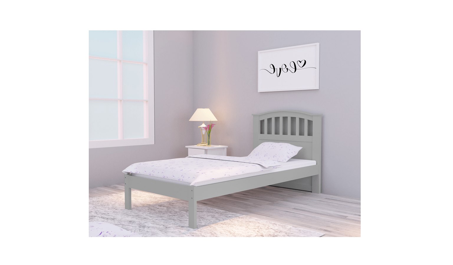 Bentley Single Size Bed Frame Grey Harvey Norman Malaysia