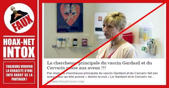 Les faux aveux concernant les vaccins Gardasil et Cervarix