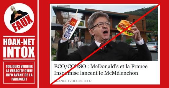 Non, McDonald's ne lance pas le McMélenchon